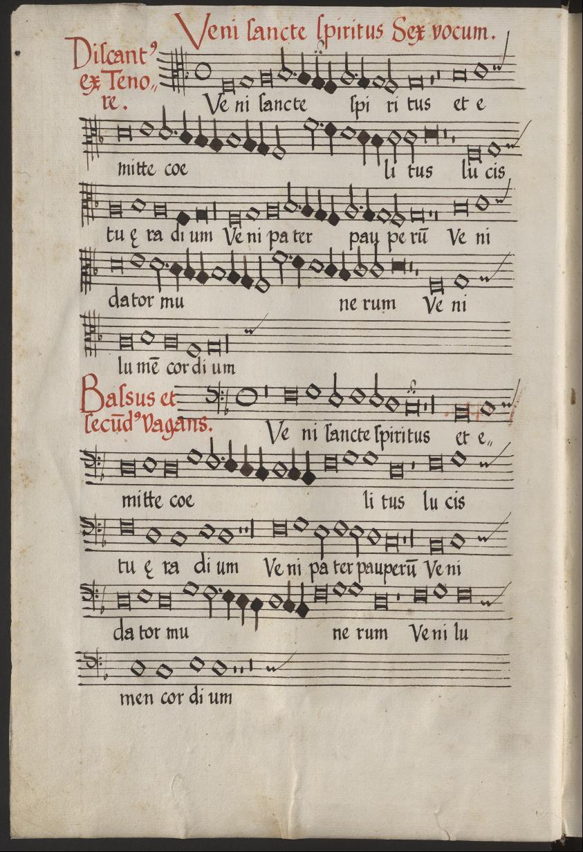 Chart. A 98 - Gothaer Chorbuch - Liber cantionum sacrarum Latinarum et Germanicarum